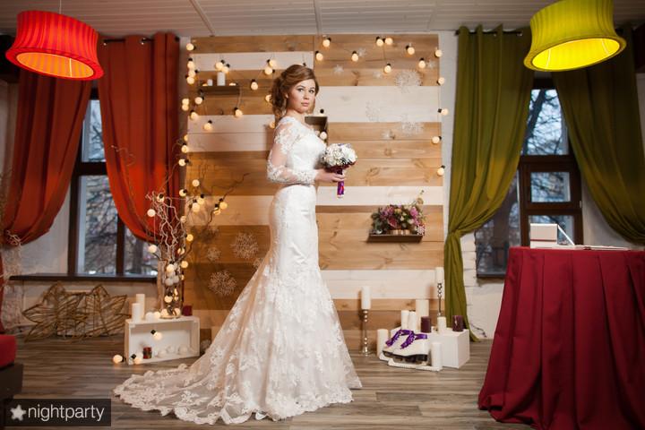 Образ невесты на презентации свадебного зала
